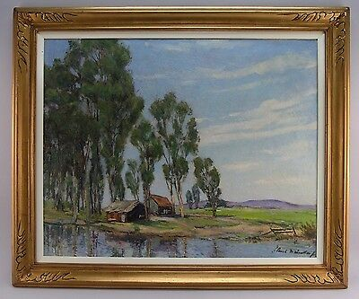Amazing Paul Weindorf (1887-1965) Early Ca Impressionist Oil Landscape Painting