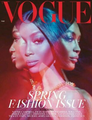 UK VOGUE Magazine March 2019 - NAOMI CAMPBELL COVER - GILLIAN ANDERSON