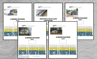 Duro Steel Arch CD Building Erection Manuals all 5 Models Evaluate Const. Costs