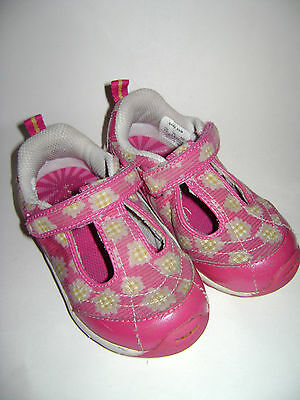 STRIDE RITE TODDLER GIRLS SHOES SNEAKERS FLATS BABY PAM size 8 M PINK BEAUTIFUL