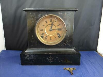 Antique E. Ingraham WIZARD Mantel Clock 8-Day Gong 1885 Patent Date MM6216