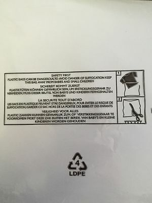 Child Suffocation Warning Poly bags 18 x 24″ 457 x 609mm Choose Qty