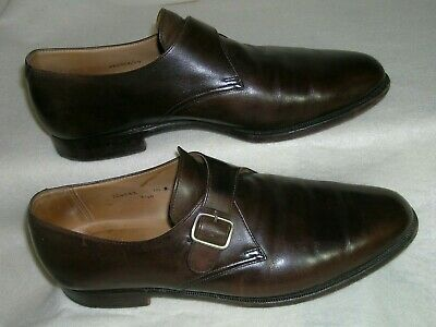 3ff71ea7728b3 Peal   Co Brooks Brothers Leather Monk Strap Dress Shoe Brown Sz 10 England