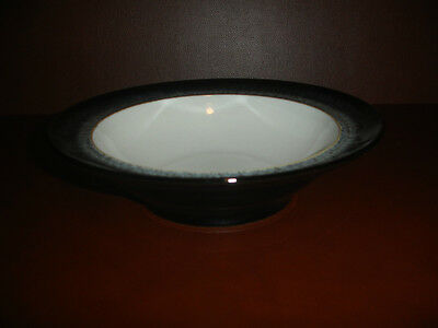New Denby Halo Round Bowl Cereal Soup Pasta Plate Pottery Stoneware Black White