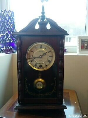 Vintage Wooden 31 Day Regulator Clock