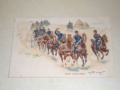 Early Eugene Chaperon Military Pc - French Artillery Train - Vgc