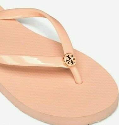 d95a64eed TORY BURCH SOLID Thin Flip Flops POPPY ORANGE 802 Size 8 NEW IN BOX ...