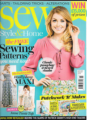 Sew Style & Home - Issue 73 - July 2015 - Includes Anna Tunic but not New Look