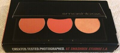 Smashbox L.A. Lights Blush & Highlight Palette Culver City Coral 3 Shades NIB