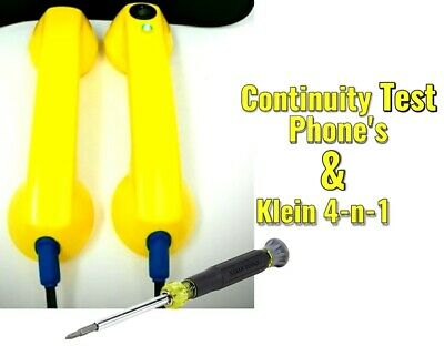 Klein Tools Screwdriver & Electrician Continuity Test Phones, Loop Check Phone's