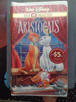 Walt Disney The Aristocats VHS Gold Classic Collection - Factory Sealed