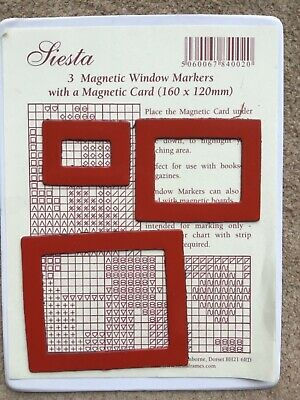 Siesta cross stitch magnetic window markers with magnetic card