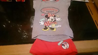 Disney, Girl's age 2 yrs. Minnie Mouse two piece shirt/short set, brand new