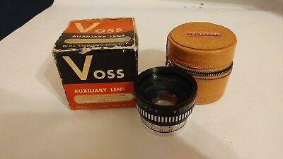 Vintage Voss auxiliary wide angle lens with case and box