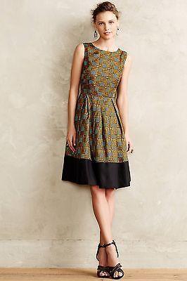 239741747a6b3 NIP anthropologie Kakum Flared Silk Dress by Girls from Savoy Sz 0 $188