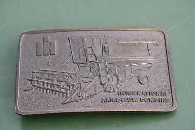 International Harvester IH Axial-Flow Combine Brass Belt Buckle