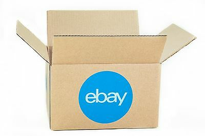 """eBay-Branded Boxes With Blue 2-Color Logo 10"""" x 8"""" x 6"""""""