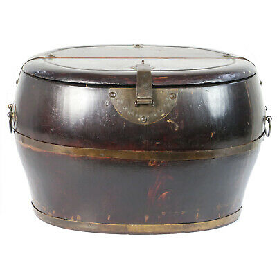 Antique Chinese Wood Utility Shoe Food Bucket 16″ Wide, 11-1/2″ Deep, 10″ Tall
