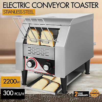300PCS/H Electric Commercial Conveyor Toaster Bagel Food Kitchen Bread 2200W