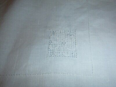 ANTIQUE/VINTAGE LINENS1930s/1940s3T/CLOTHS82CBROWN EMB77CCOTTON MACH.LACE100CLIN