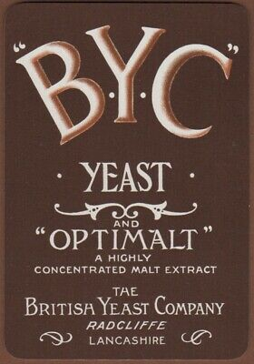 Playing Cards 1 Single Card Antique Goodall Wide BYC BRITISH YEAST Beer Brewery