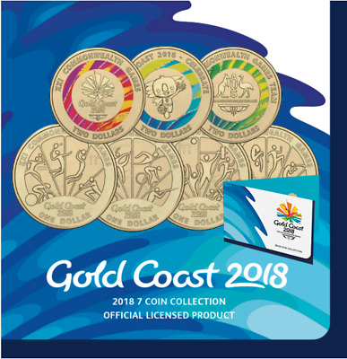2018 Commonwealth Games 7 Coin Set UNCIRCULATED Including 4 Rare $1 Coins CHEAP!