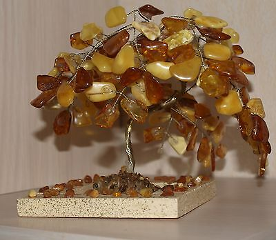 Unique very rare&old handmade Baltic amber TREE 170g! Incredibly beautiful!!