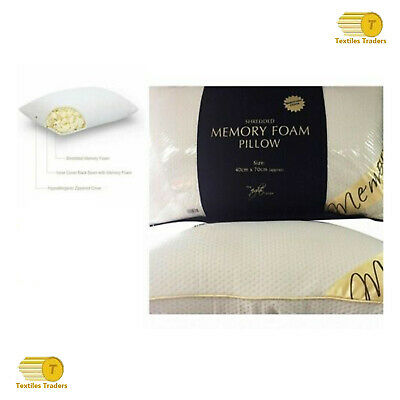Luxury Shredded Memory Foam Pillow Firm Head Neck Support Orthopaedic Pillow New