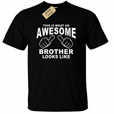 Awesome BROTHER T-Shirt Funny birthday gift big little present mens