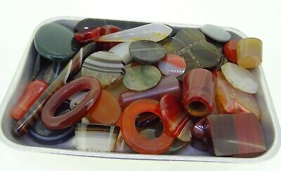 huge mixed lot of agate 850ct natural loose gemstones
