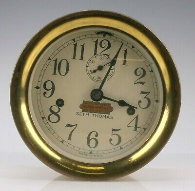Vintage Seth Thomas Kelvin White Co Ships Bell Clock - Nautical Ship Instrument