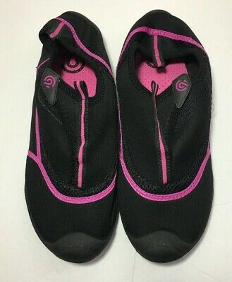 4f264ff096f WOMEN S CHAMPION LUCILLE Water Shoes Sz XL 11 12 Black Pink C9 Pool ...