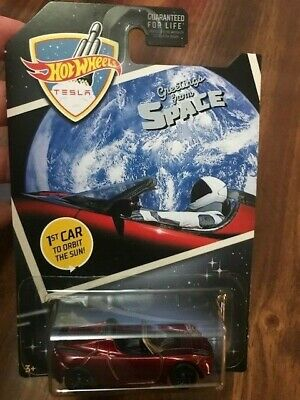 2019 Hot Wheels '08 Tesla Roadster Greetings From Space 1st Car To Orbit The Sun