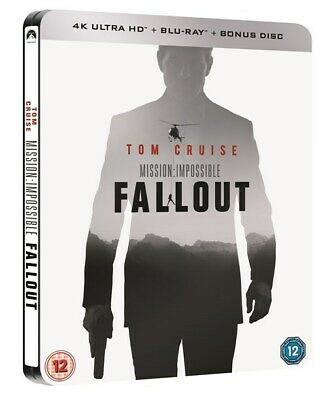 Mission: Impossible: Fallout 4K HMV UK Exclusive Ltd Ed Blu-ray Steelbook NEW