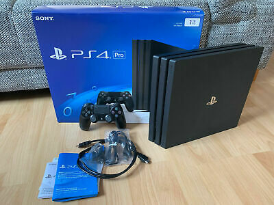 Sony Playstation 4 Pro Konsole PS4 (1TB) + 5 Spiele & Controller - in OVP