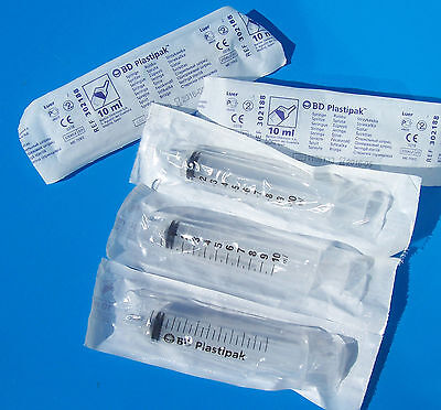 SYRINGES 10ml x 5 new BICTON DICKINSON, non sterile,ideal for industry ref d017