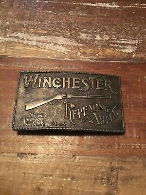 Vintage Winchester Repeating Arms Belt Buckle