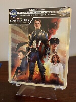 Captain America The First Avenger Steelbook (4K UHD/Blu-ray/Digital) SEALED!
