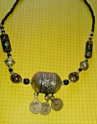 EXTREMELY Ancient VIKING necklace Pendant AMULET SILVER EGG PENDANT RARE