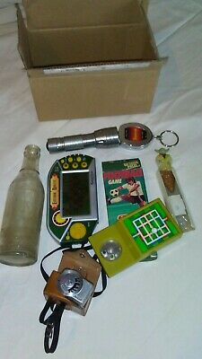 GOODY BOX Vintage Toys Old Bottle Camera Part And Odds