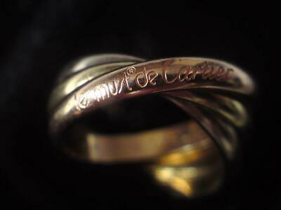 340a52ea639bb CARTIER 18CT 3 COLOUR GOLD RUSSIAN WEDDING RING band Genuine Size UK ...
