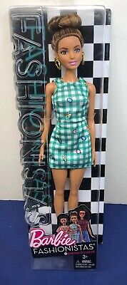 "12"" Mattel Barbie Fashionistas Emerald Check # 50 Beautiful Brunette NRFB #B"
