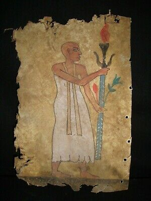 RARE ANTIQUE ANCIENT EGYPTIAN Part of a Book of Dead on a Piece of Leather 300BC