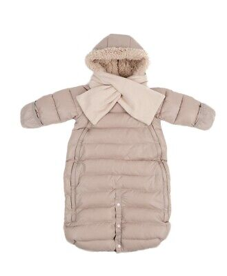 490403133 BUNTING BAGS 7AM Enfant Doudoune Infant Snowsuit, Grey Black Small ...