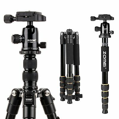 ZOMEI Q666 Portable Aluminum Tripod&Ball Head Monopod Travel F Canon DSLR Camera