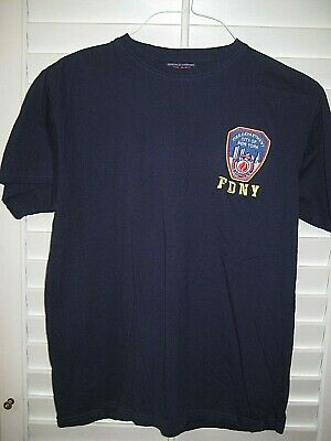 Officially Licensed FDNY FIre Department New York navy blue t-shirt Size Medium