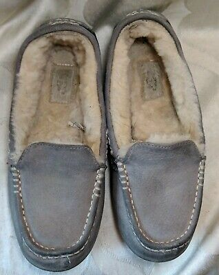 19466c82455 UGG ANSLEY 3312 Womans Slippers Sz 6 TEAL GREEN Moccasin Driving ...