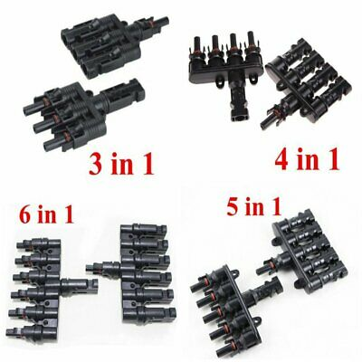 MC4 T Type Branch Solar Panel PV Cable Photovoltaic Male to Female Connectors