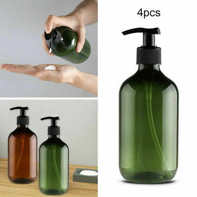 4X Hand Pump Plastic 500ML Bathroom Liquid Soap Foam Dispenser Shampoo Bottle