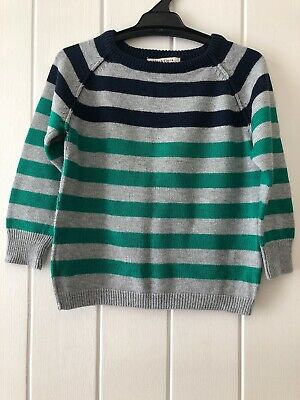Fox and Finch Striped Boys Jumper Size 3